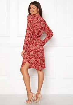OBJECT Apala L/S Shirt Dress Haute Red Bubbleroom.se