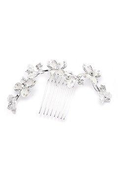 Ivory & Co Peony Haircomb Silver Bubbleroom.se