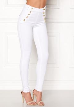 77thFLEA Adina highwaist jeans White Bubbleroom.se
