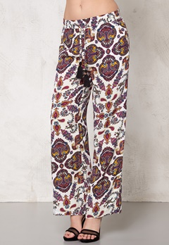 77thFLEA Antalya trousers Winter white / Print Bubbleroom.no