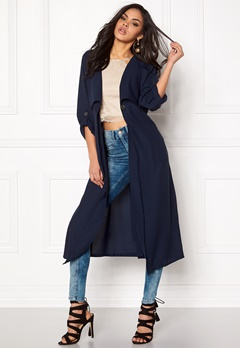 77thFLEA Baku light  Trenchcoat Dark blue Bubbleroom.se