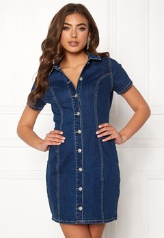 77thFLEA Belinda denim dress Blue denim Bubbleroom.se