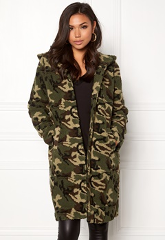 77thFLEA Claire teddy jacket Camouflage Bubbleroom.se