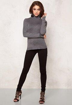 77thFLEA Evora knitted Polotröja Grey melange Bubbleroom.se