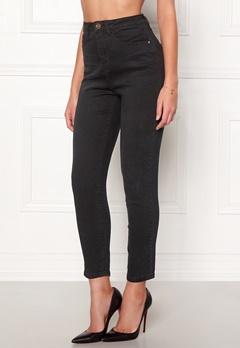 77thFLEA Felice high waist jeans Black Bubbleroom.se
