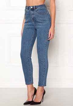 77thFLEA Felice high waist jeans Dark blue Bubbleroom.se