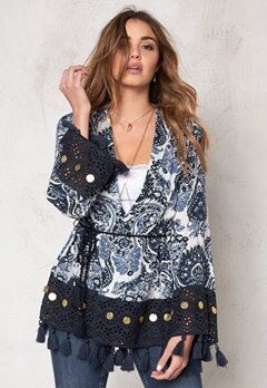 77thFLEA Gurgaon Jacket Blue / Print Bubbleroom.se
