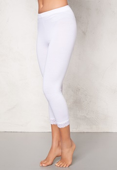 77thFLEA Juni cropped Leggings White Bubbleroom.se
