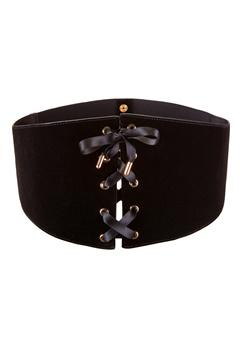 77thFLEA Kyla corset belt Black Bubbleroom.se
