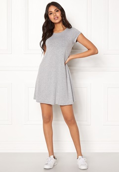 77thFLEA Lara t-shirt dress Grey melange Bubbleroom.se