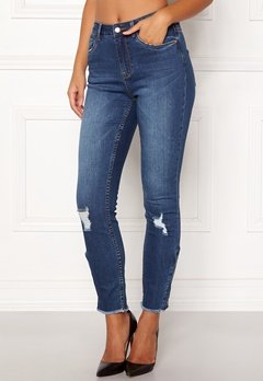 77thFLEA Laurel HW zip jeans Medium blue Bubbleroom.se