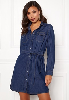 77thFLEA Leonie denim dress Medium blue Bubbleroom.se