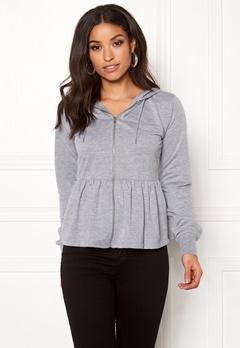 77thFLEA Lucy peplum sweater Grey melange Bubbleroom.se