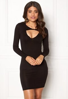 77thFLEA Lulah Twist Dress Black Bubbleroom.se