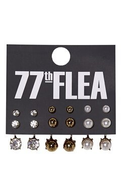 77thFLEA Multi Earrings set Ørepynt Flerfarget Bubbleroom.no