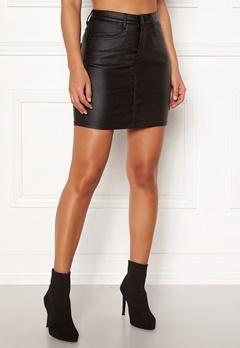 77thFLEA Nila coated skirt Black Bubbleroom.se