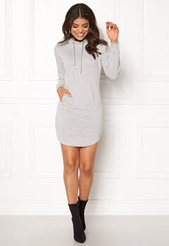 77thFLEA Rhianna Sweat Dress Grey melange Bubbleroom.eu
