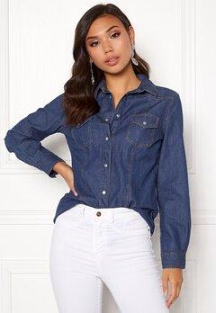 77thFLEA Shirley denim shirt Medium blue Bubbleroom.se