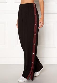 77thFLEA Tamika button trousers Black Bubbleroom.se