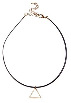 77thFLEA Thin triangle choker  Bubbleroom.se