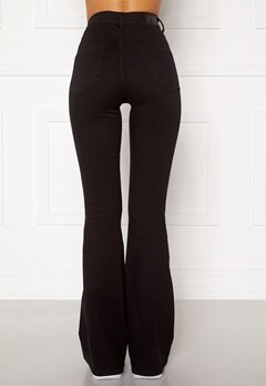 77thFLEA Tove high waist flared superstretch Black Bubbleroom.se