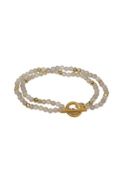Pearls for Girls Rannekoru Harmaa Bubbleroom.fi