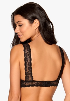 YHUSH Amy Soft Lace Bra Black Bubbleroom.se