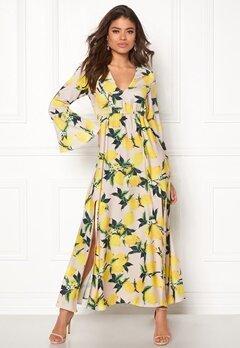 AÉRYNE Ioor Dress Beige/Lemon Print Bubbleroom.dk