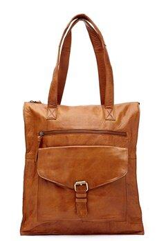 Pieces Abby Leather Shopper Cognac Bubbleroom.se