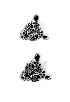 La Femme Confiante A.C Leopard Earrings Copper Bubbleroom.fi