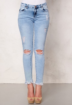 Mixed from Italy Acid Wash Ripped Jeans Light Blue Bubbleroom.se