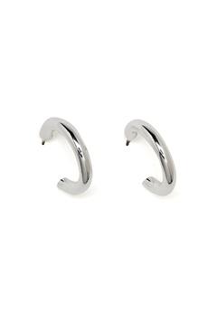 SNÖ of Sweden Adara Small Oval Ear Silver/Plain Bubbleroom.se