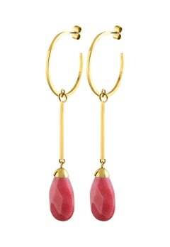 Dyrberg/Kern Akua Earrings Red Bubbleroom.se