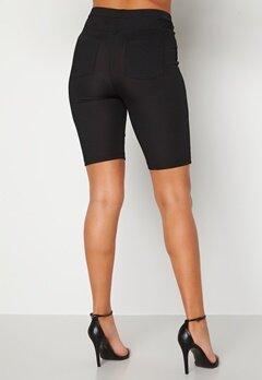 Alexandra Nilsson X Bubbleroom Biker rib shorts Black Bubbleroom.se