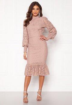 Alexandra Nilsson X Bubbleroom Lace flounce skirt Dusty lilac Bubbleroom.se