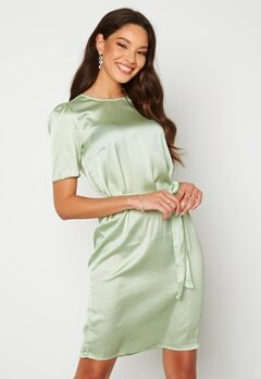 Alexandra Nilsson X Bubbleroom Satin T-shirt Dress Mint green Bubbleroom.se