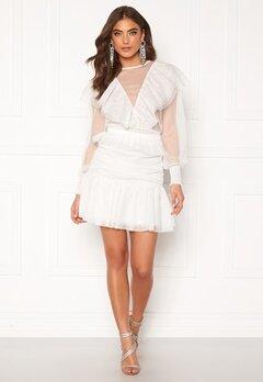 Alexandra Nilsson X Bubbleroom Tulle frill skirt Offwhite Bubbleroom.se