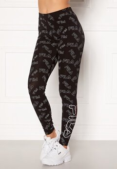 FILA Alexandria AOP Leggings A789 Black Allover Bubbleroom.se