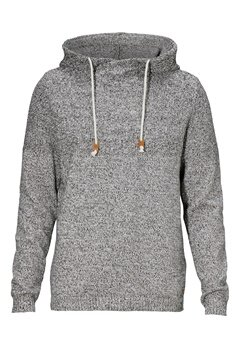 JACK&JONES Alfi Cross Over Knit Light Grey Melange Bubbleroom.se