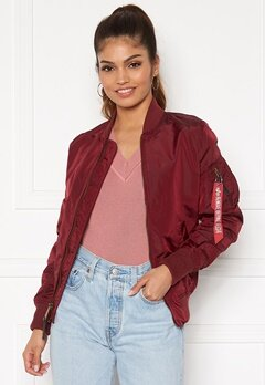 Alpha Industries MA-1 TT 184 Burgundy Bubbleroom.se
