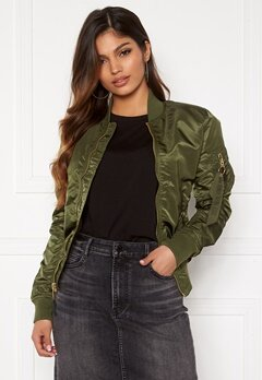 Alpha Industries MA-1 VF LW 257 Dark Green Bubbleroom.se