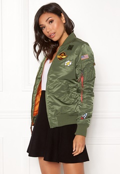 Alpha Industries MA-1 VF Patch Jacket Sage Green Bubbleroom.se