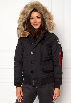 Alpha Industries Polar Jacket Black Bubbleroom.fi
