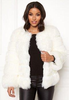 AMO Couture Dusk Faux Fur Coat White Bubbleroom.se