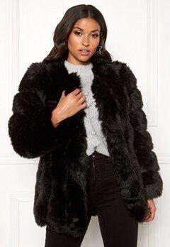 AMO Couture Renaissance Faux Fur Coat Black Bubbleroom.se