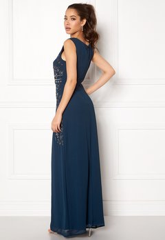 AngelEye Decorative Sequin Dress Navy Bubbleroom.se