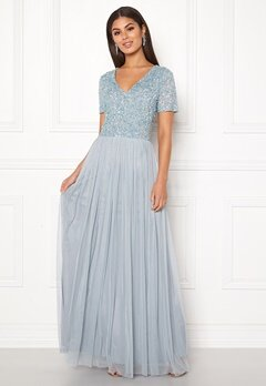 AngelEye Embellished Maxi Dress Heather Blue Bubbleroom.se