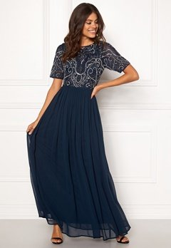 AngelEye Embellished Maxi Dress Navy Bubbleroom.se