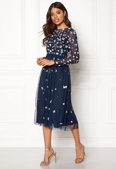 AngelEye Flower Embellished Dress Navy Bubbleroom.se