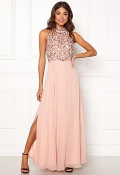 AngelEye High Neck Sequin Dress Pink Bubbleroom.se